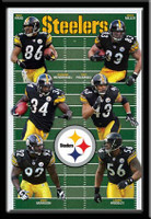 Pittsburgh Steelers NFL Football Field with Team Players