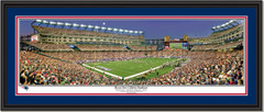 New England Patriots Moon Over Gillette Stadium Framed Poster