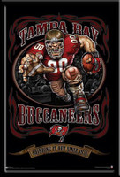 Tampa Bay Buccaneers Vintage NFL Poster Grinding It Out