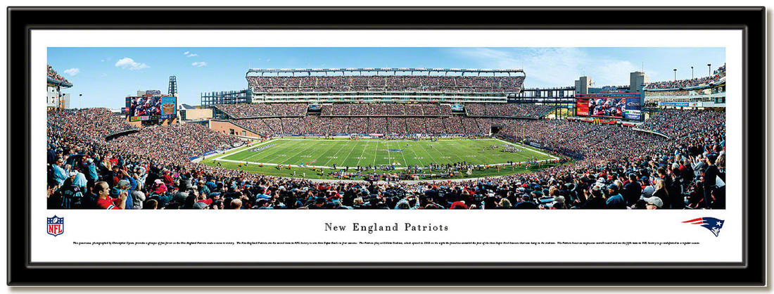 New England Gillette Stadium Panoramic 50 Yard Line Poster no mat
