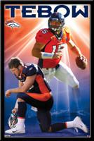 Tim Tebow Denver Broncos Tee-Bow Poster