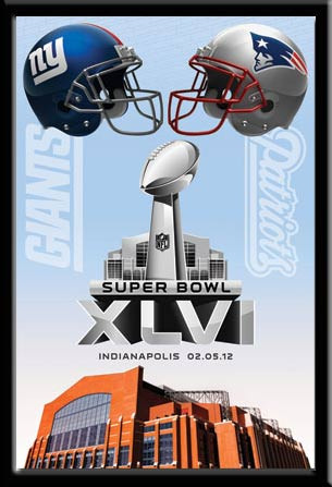 Super Bowl Xlvi Commemorative Dueling Helmets Poster