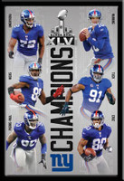 New York Giants Stars of Super Bowl XLVI Poster