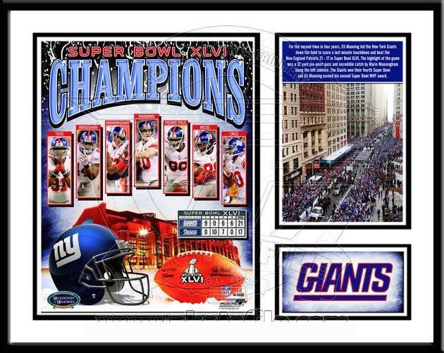 Ny Giants Super Bowl Xlvi Memories And Milestones Framed Print