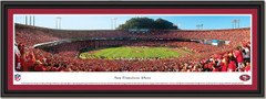 San Francisco 49ers vs New Orleans Saints Touchdown Framed Print single mat black frame