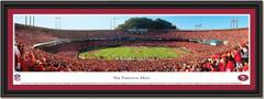 San Francisco 49ers vs New Orleans Saints Touchdown Framed Print single mat black frame