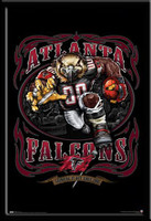 Atlanta Falcons Vintage NFL Poster Grinding It Out