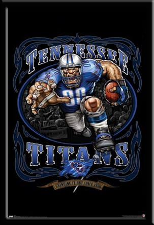 Tennessee Titans Vintage Nfl Poster Grinding It Out