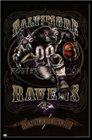 Baltimore Ravens Vintage NFL Poster Grinding It Out