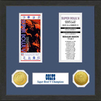 Baltimore Colts Framed Super Bowl Ticket Collection