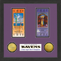 Baltimore Ravens Framed Super Bowl Ticket Collection