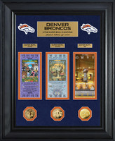 Denver Broncos Framed Super Bowl Ticket Collection