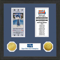 Indianapolis Colts Framed Super Bowl XLI Ticket Collection