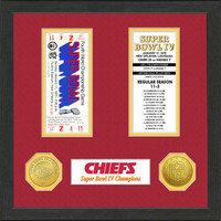 Kansas City Chiefs Framed Super Bowl Ticket Collection