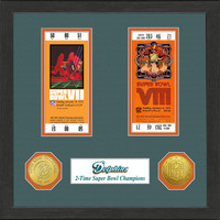 Miami Dolphins Framed Super Bowl Ticket Collection