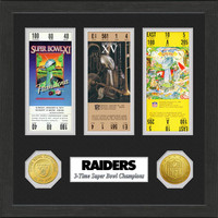 Oakland Raiders Framed Super Bowl Ticket Collection