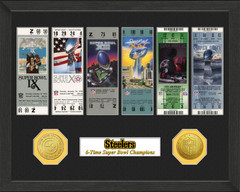 Pittsburgh Steelers Framed Super Bowl Ticket Collection