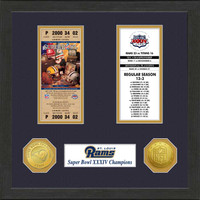 St. Louis Rams Framed Super Bowl Ticket Collection