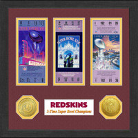 Washington Redskins Framed Super Bowl Ticket Collection