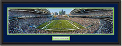 Seattle Seahawks CenturyLink Field Football Framed Poster Double Mat and Black Frame