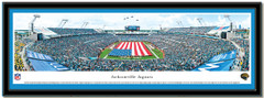 Jaguars EverBank Field with American Flag Framed Picture matted
