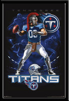 Tennessee Titans Lightning Design Fan Poster