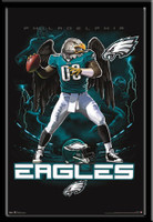 Philadelphia Eagles Lightning Design Framed Poster