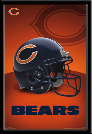 Chicago Bears Football Team Helmet Logo Poster