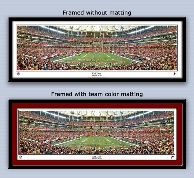 Atlanta Falcons Georgia Dome End Zone Panoramic Framed Picture