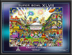 Super Bowl Posters SB XLVII Official Pop Art Poster