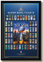 NFL 2014 Super Bowl Tickets Framed Poster