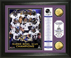 Ravens Super Bowl XLVII Commemorative Coins Framed Photo