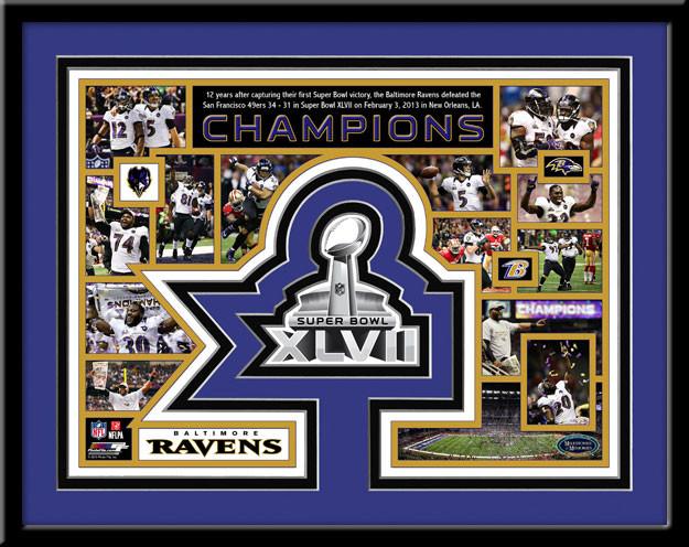 Ravens Super Bowl XLVII Memories and Milestones Framed Picture