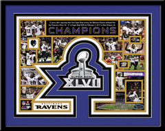 Ravens Super Bowl XLVII Memories and Milestones Framed Picture