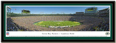 Green Bay Lambeau Field Panoramic Sports Poster matted