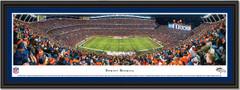 Denver Broncos Mile High Stadium Framed Panoramic Picture
