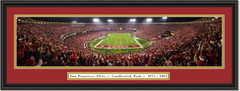 San Francisco 49ers Last Game at Candlestick Parkdouble mat black frame