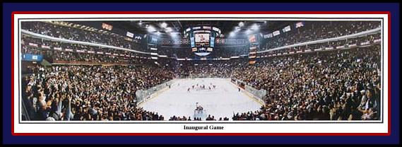 Columbus Blue Jackets Nationwide Arena Inaugural Game Poster