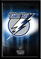 Tampa Bay Lightning Hockey Team Logo Framed Poster