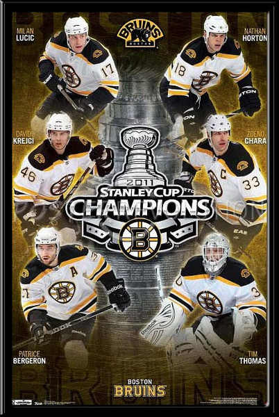 Boston Bruins Stanley Cup 2011 Team Framed Poster