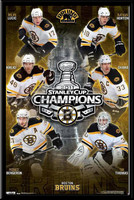 Boston Bruins Stanley Cup 2011 Team Poster