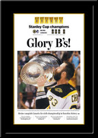 Boston Bruins Newspaper Headlines Glory B's Framed Poster