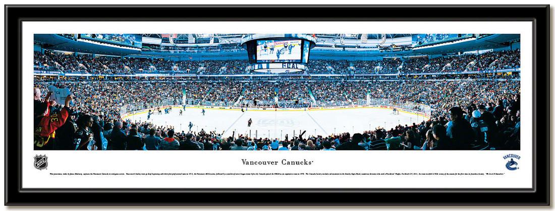 Vancouver Canucks Rogers Arena Framed NHL Hockey Poster no mat
