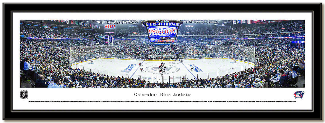Columbus Blue Jackets Nationwide Arena NHL Hockey Poster