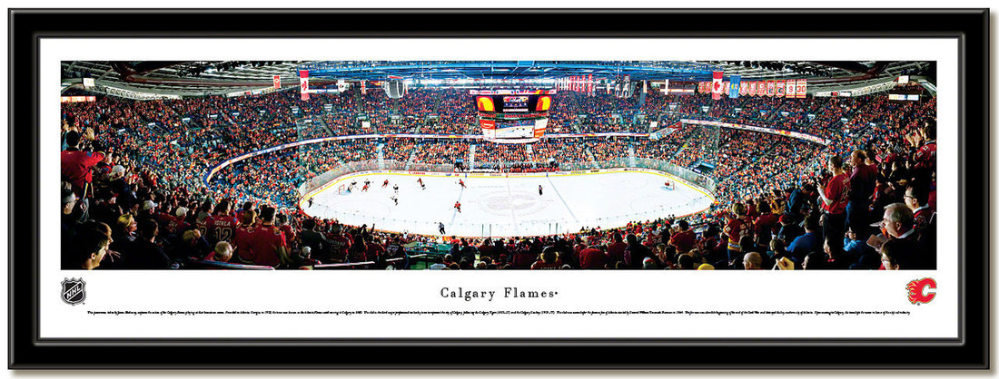 Calgary Flames Scotiabank Saddledome Hockey Arena Poster no mat