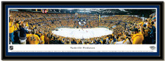 Nashville Predators Quarterfinal Victory Framed Picture matted
