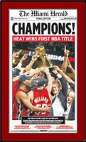 Miami Heat 2006 NBA Championship Miami Herald Headlines Poster