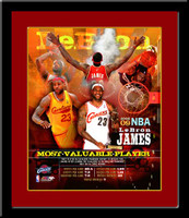 Cleveland Cavaliers Lebron James MVP Composite Photos