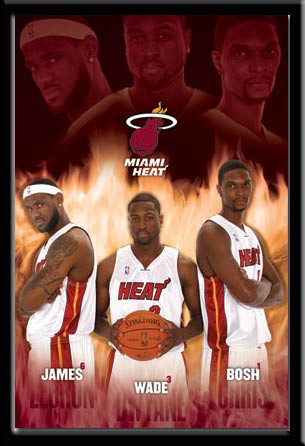 Miami Heat Super Stars Framed Player Framed Poster