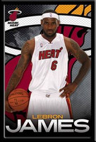 Lebron James Miami Heat Framed Poster